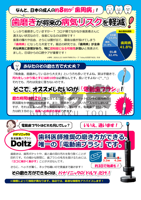 パナソニック電動歯ブラシチラシデータ
