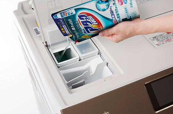 洗濯機洗剤自動投入機能